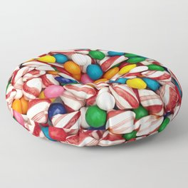 Peppermints and Gumballs Floor Pillow