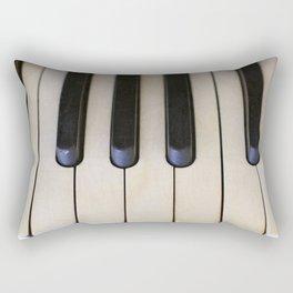 Antique Piano Keys Rectangular Pillow