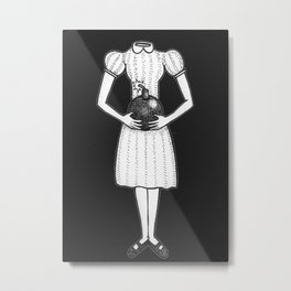 Here, I Made This For You (Black Background) Metal Print