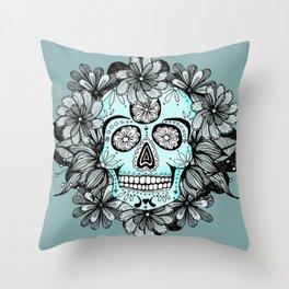 Blue Sugar Throw Pillow