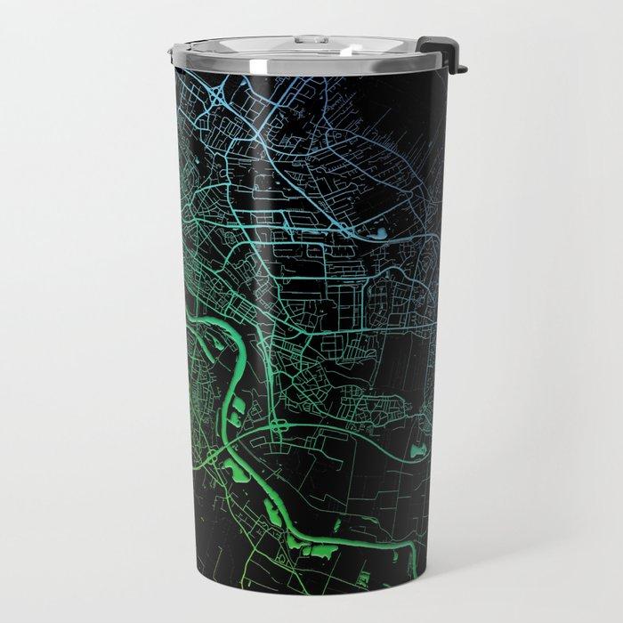 Bremen, Germany City, Map, Rainbow, Map, Art, Print Travel Mug