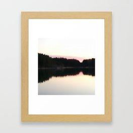 Magical Evening Moment in the Archipelago Framed Art Print