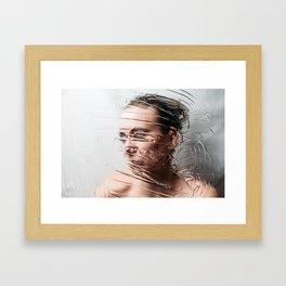 Through The Screen Framed Art Print