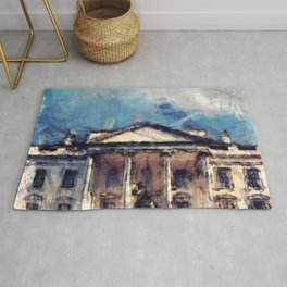 White House On A Sunny Day Rug