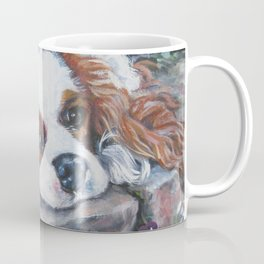 Beautiful Blenheim Cavalier King Charles Spaniel Dog Art Painting by LA.Shepard Coffee Mug