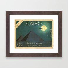 Cairo Safety Matches  Framed Art Print