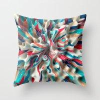 weird Throw Pillows featuring Weird Surface by Danny Ivan