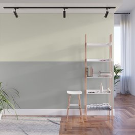 Benjamin Moore 2019 Color of Year Metropolitan AF-690 and Lemon Chiffon 932 Bold Horizontal Stripes Wall Mural