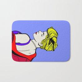 Robyn - Roy Lichtenstein Inspired Portrait 2 Bath Mat