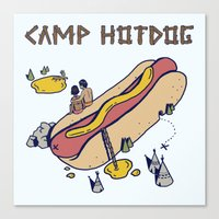 camp Canvas Prints featuring CAMP by Laura O'Connor
