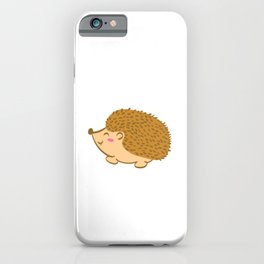 "Cute Animal Tee For Animal Lovers Saying ""Just A Girl Who Loves Hedgehogs"" T-shirt Design Cute  iPhone Case"