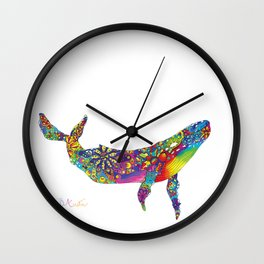 Good Vibes Whale Wall Clock