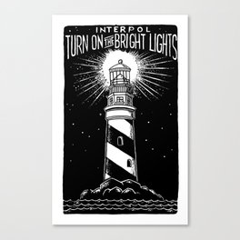 Turn On The Bright Lights Canvas Print