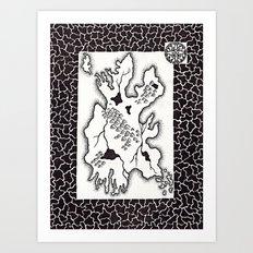 La Isla Olvidada Art Print
