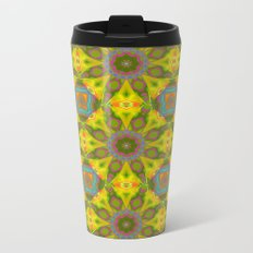 Abstract Flower Pattern AAA RRR Metal Travel Mug