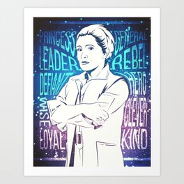 Princess Leia / General Organa Art Print