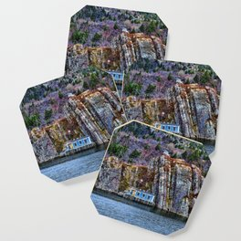 Old Fisherman House on water in Newfoundland, canada Coaster