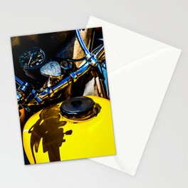 Details Of A Vintage Motorbike Color Stationery Cards