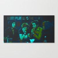 scott pilgrim Canvas Prints featuring Scott Pilgrim by Gully Foyle