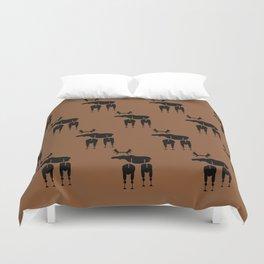 Brown Moose Pattern Duvet Cover