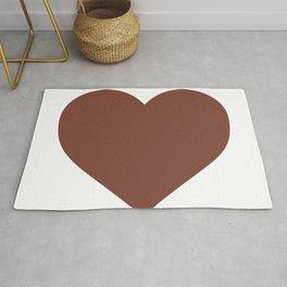 Heart (Brown & White) Rug