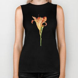 Orange Daylily Illustration Biker Tank
