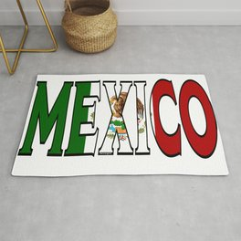 Mexico Font with Mexican Flag Rug