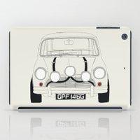mini cooper iPad Cases featuring The Italian Job White Mini Cooper by Martin Lucas