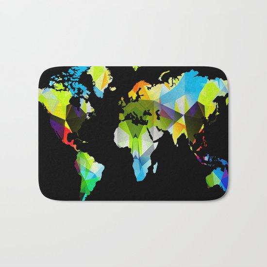 Colorful world map Bath Mat