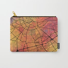 Casablanca Morocco Street Map Art Watercolor Lava Explosion Carry-All Pouch