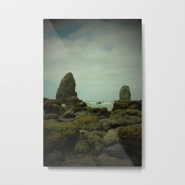 The Haystack's Sentinels Metal Print
