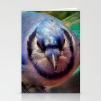 jay fleck Stationery Cards featuring Blue Jay by Christine Belanger