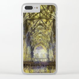 York Minster Van Gogh Style Clear iPhone Case