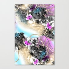Bible Leopard With Flowers Canvas Print
