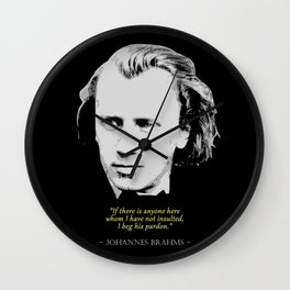 Johannes Brahms Quote Wall Clock