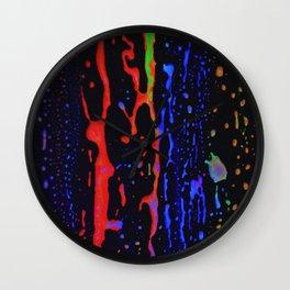 blacklight colors Wall Clock