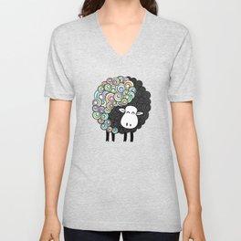 Yin Yang Sheep Unisex V-Neck