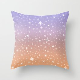 Candy Sparkle Gradient Throw Pillow