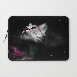 Supernova of the Ethereal Cat Laptop Sleeve