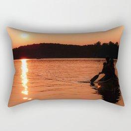 Sunset Canoe Rectangular Pillow