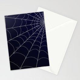 Spiderweb on Midnight Stationery Cards