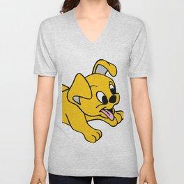 Cachorro feliz Unisex V-Neck