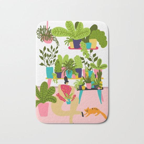 Love Plants Bath Mat