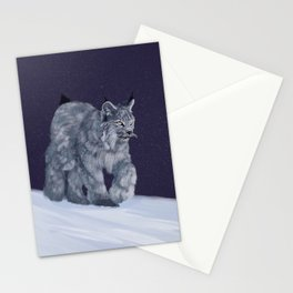 Lynx in a snowstorm Stationery Cards