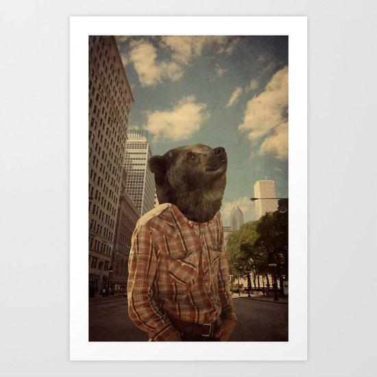 Mr. Downtown Art Print