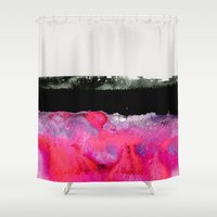 georgiana paraschiv Shower Curtains featuring Immersed by Georgiana Paraschiv