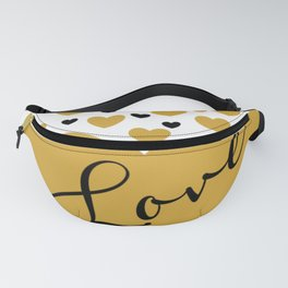 Love is Gold Fanny Pack