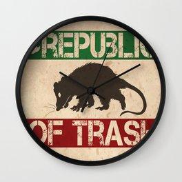 Republic of Trash Wall Clock