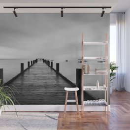 """""""ghost"""" boats on Lake Tahoe after a storm Wall Mural"""