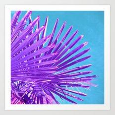 purple palm leaf IV Art Print